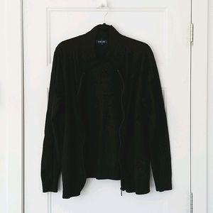 Encore Black Vest with zipper
